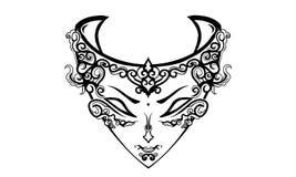 Mask of queen vector illustration
