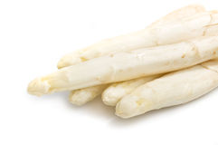Beautiful white jumbo asparagus close up shoot Royalty Free Stock Photography