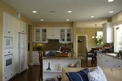 Beautiful White Kitchen Stock Photography