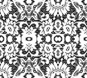 Beautiful white lace on black background Royalty Free Stock Images
