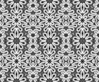 Beautiful white lace on black background Stock Image