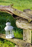 Beautiful white lantern in the garden Royalty Free Stock Photo