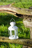 Beautiful white lantern in the garden Royalty Free Stock Photography