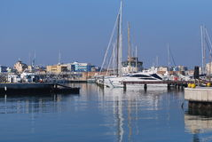Rimini port Stock Photo