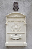 Beautiful white mailbox Stock Photography