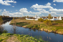 Beautiful white monastery in Suzdal, Russia Stock Photo