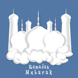 Beautiful white Mosque for holy month Ramadan Kareem celebration Royalty Free Stock Photo