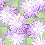 Beautiful white Origami Floral bouquet on grey background. Royalty Free Stock Photos