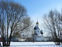 Beautiful white orthodox church, Lithuania Royalty Free Stock Photo