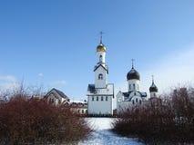 Beautiful white orthodox church, Lithuania Stock Photography