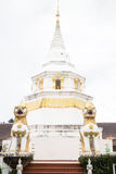Beautiful white pagoda in the temple Royalty Free Stock Images