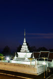 Beautiful white Pagoda in twilight time. stock image