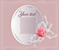 Beautiful border with rose pink stock image