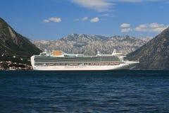 Beautiful white passenger ship Royalty Free Stock Images