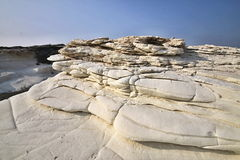 Beautiful white rock formations on the Cypriot coast. The beautiful white rock formations on the Cypriot coast Stock Images