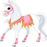 Beautiful white Royal horse Stock Images