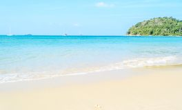 Beautiful white sand beach with the Andaman sea Royalty Free Stock Images