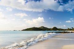 Beautiful white sand beach on Antigua Stock Images