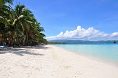 Beautiful white sand beach in Boracay Royalty Free Stock Photo