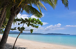 Beautiful white sand beach in Boracay. Philippines Stock Photo