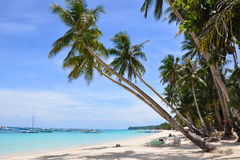 Beautiful white sand beach in Boracay. Philippines Royalty Free Stock Images
