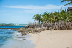 Beautiful white sand beach of Boracay Royalty Free Stock Images