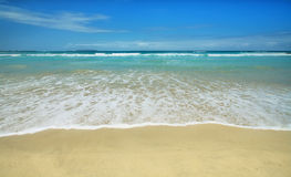 Beautiful white sand beach in the Galapagos Islands, Ecuador Royalty Free Stock Photography