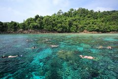 Beautiful white sand beach of koh rok island Stock Image