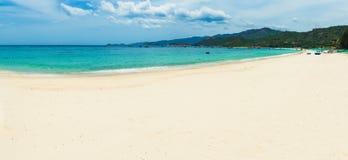 White sand beach. Vietnam. Panorama. Beautiful white sand beach. Landscape of Vietnam. Panorama royalty free stock photos