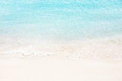 Beautiful white sand beach. Sea waves. Stock Photos