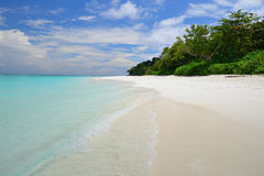 Beautiful white sand beach in summer Royalty Free Stock Photos