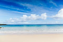 Beautiful white sand beach, the tropical sea . Summer view of nature Royalty Free Stock Photography