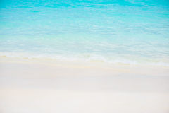 Beautiful white sand beach and tropical turquoise blue sea Royalty Free Stock Photography