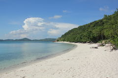 Beautiful white sand beaches and clear water. White sand beaches, blue skies across Thailand to the island Stock Photography