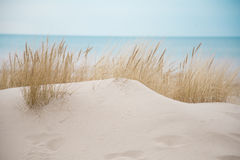 Beautiful white sand dunes at the sea beach Royalty Free Stock Photography