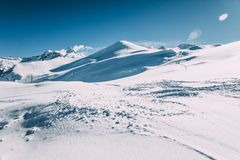 beautiful white snow in winter mountains, mayrhofen ski stock images