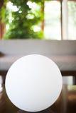 Beautiful white sphere illuminator Royalty Free Stock Images