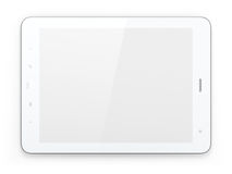Beautiful white tablet pc on white background Stock Image
