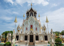 The beautiful white Temple in Phetchaburi province, Thailand. Royalty Free Stock Photos