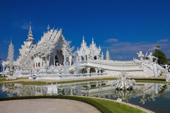Beautiful white temple royalty free stock images