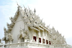 Beautiful white temple in Thailand. Royalty Free Stock Images
