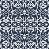 Beautiful white thin line vintage seamless pattern Stock Photos