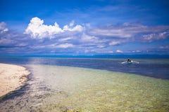 Beautiful white tropical beach on desert island Royalty Free Stock Photography