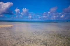 Beautiful white tropical beach on desert island Stock Image