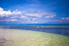 Beautiful white tropical beach on desert island Stock Photo