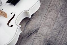 Beautiful white violin Stock Photos