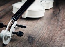 Beautiful white violin Royalty Free Stock Image