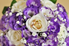 Beautiful white wedding bouquet. In happy day Stock Photos