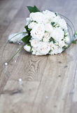 Beautiful white wedding bouquet Stock Photos