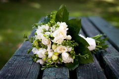 Beautiful white wedding bouquet Royalty Free Stock Photography